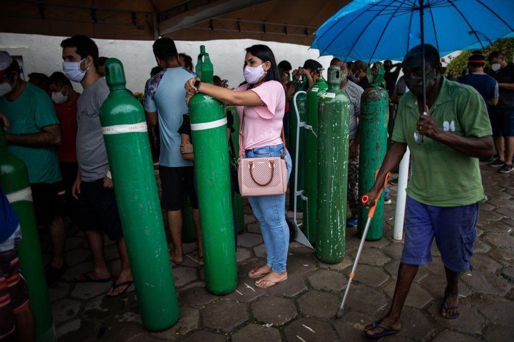 Covid-19: Centrais sindicais do Brasil acordam com Venezuela oxigênio semanal a Manaus