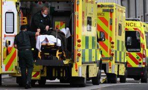 Covid-19: Reino Unido baixou valor diário para 1.290 mortes