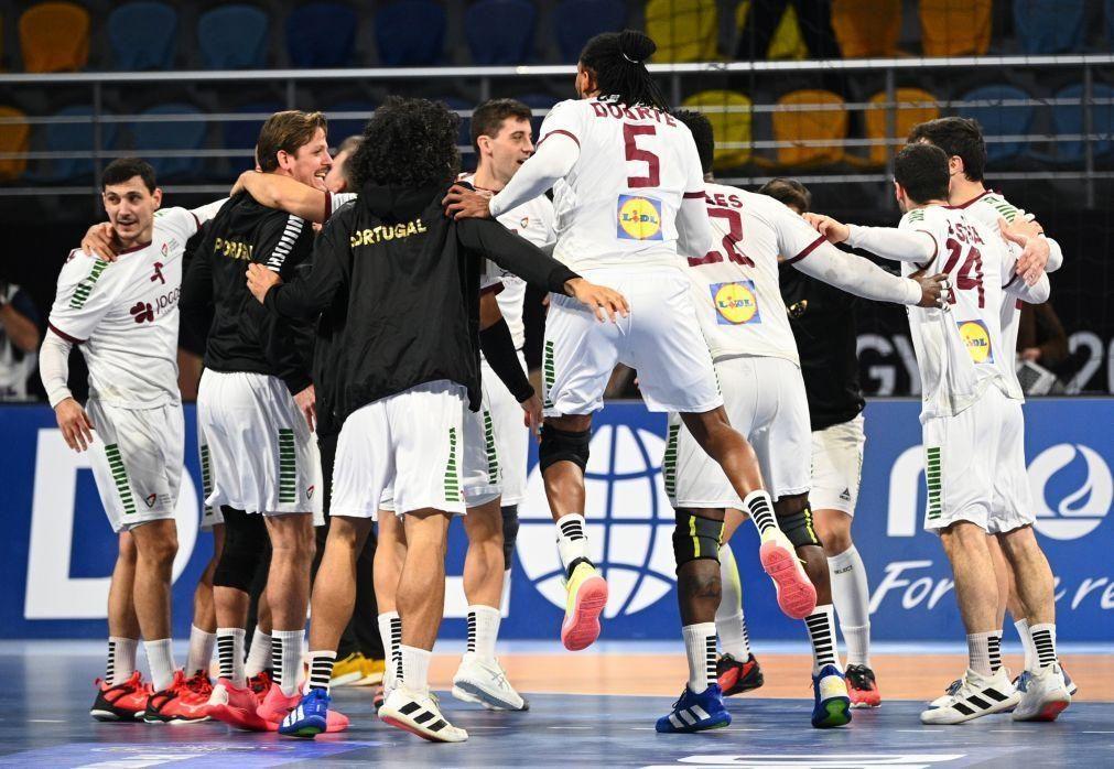 Portugal vence Suíça na corrida aos 'quartos' do Mundial de andebol
