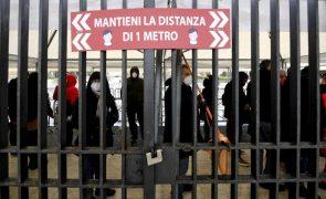 Covid-19: Itália regista 13.633 novas infeções e 472 mortes