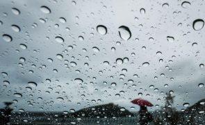Seis distritos sob aviso laranja devido à chuva