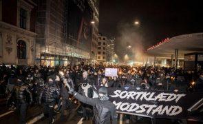 Covid-19: Novos incidentes na Dinamarca em manifestação contra restrições