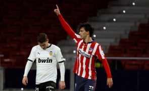 João Félix determinante na reviravolta do Atlético de Madrid face ao Valência