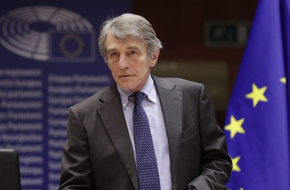 Presidente do PE felicita Marcelo e promete luta contra pandemia