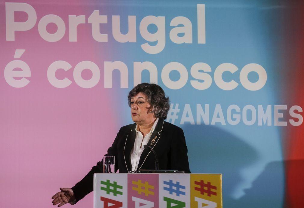 Presidenciais: Ana Gomes é a mulher mais votada de sempre em Portugal