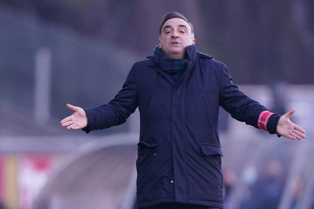 Carlos Carvalhal recusou medalha da Taça da Liga por ter sido mal expulso