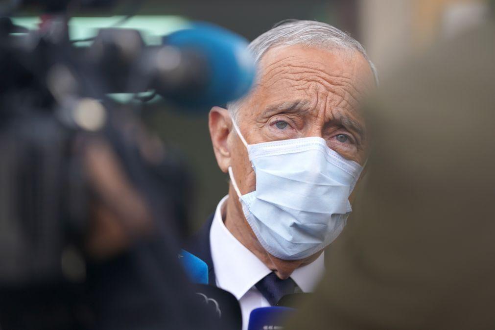 Covid-19: Presidente da República considera prematuro avançar data para a sua vacinação