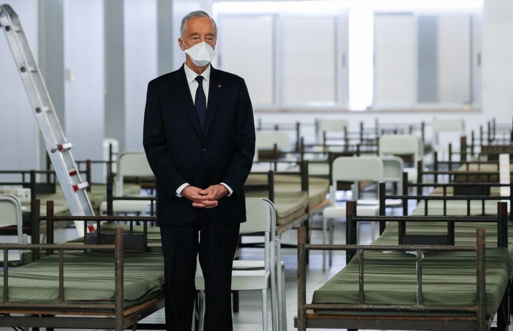 Covid-19: Marcelo afasta alarme social quanto à necessidade de ajuda internacional