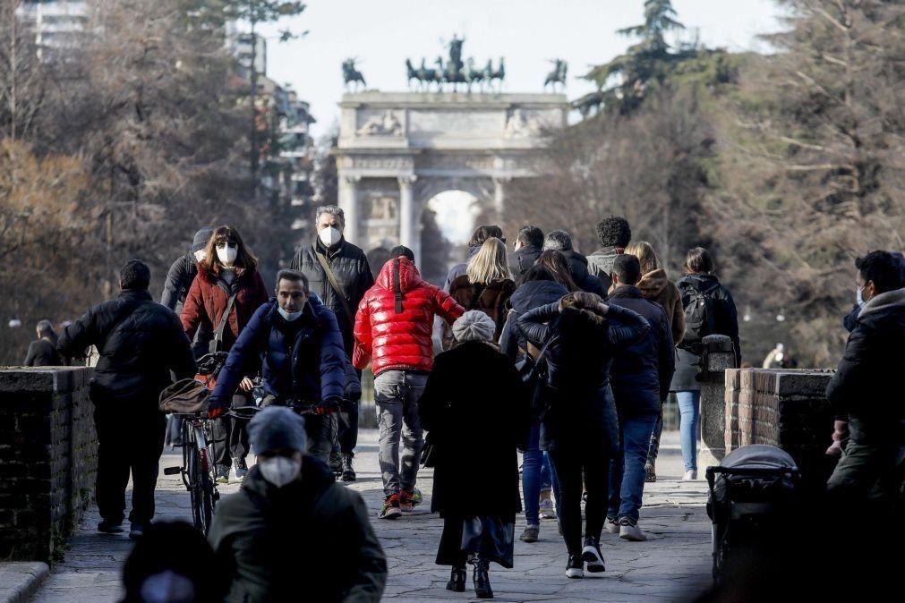 Covid-19: Itália regista 10.593 novos casos e 541 mortes nas últimas 24 horas