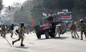 Mais de 300 polícias feridos nas manifestações de terça-feira em Nova Deli