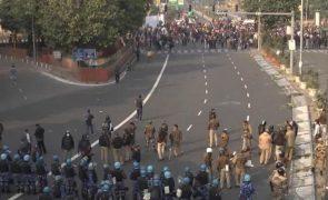 Protesto de agricultores na Índia torna-se violento e há pelo menos um morto [vídeo]