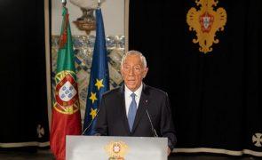 Presidente da República propõe renovação do estado de emergência até 14 de fevereiro