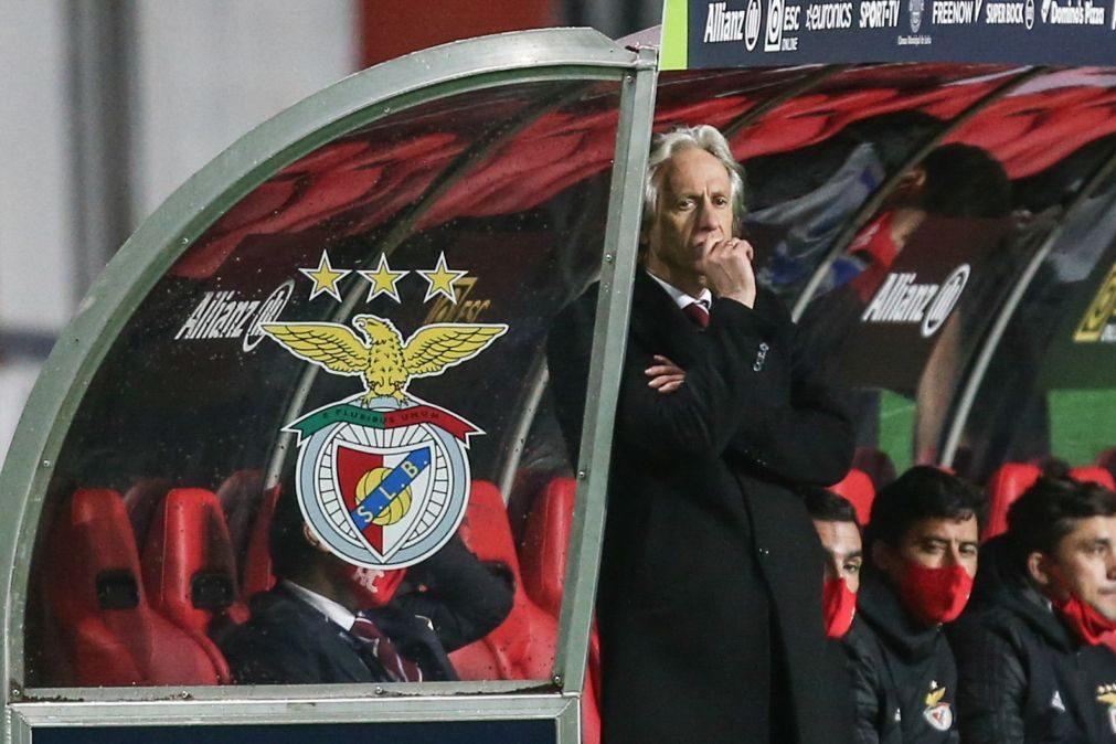 Jorge Jesus aguarda resultados de exames e falha jogo do Benfica na Taça