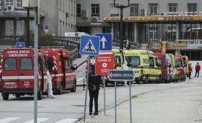 Cerca de 30 ambulâncias à porta do Hospital de Santa Maria