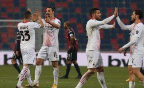 AC Milan vence em Bolonha e reforça liderança em Itália
