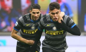 Inter Milão volta às vitórias com goleada sobre Benevento