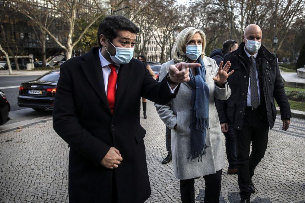 Presidenciais: Marine le Pen felicitou Ventura dias depois das eleições