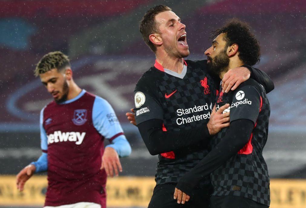 Liverpool vence o West Ham e sobe ao terceiro lugar da Premier League