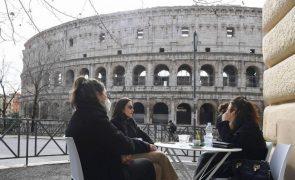 Covid-19: PIB de Itália cai 8,8% em 2020
