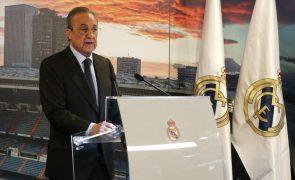 Covid-19: Presidente do Real Madrid com teste positivo e sem sintomas