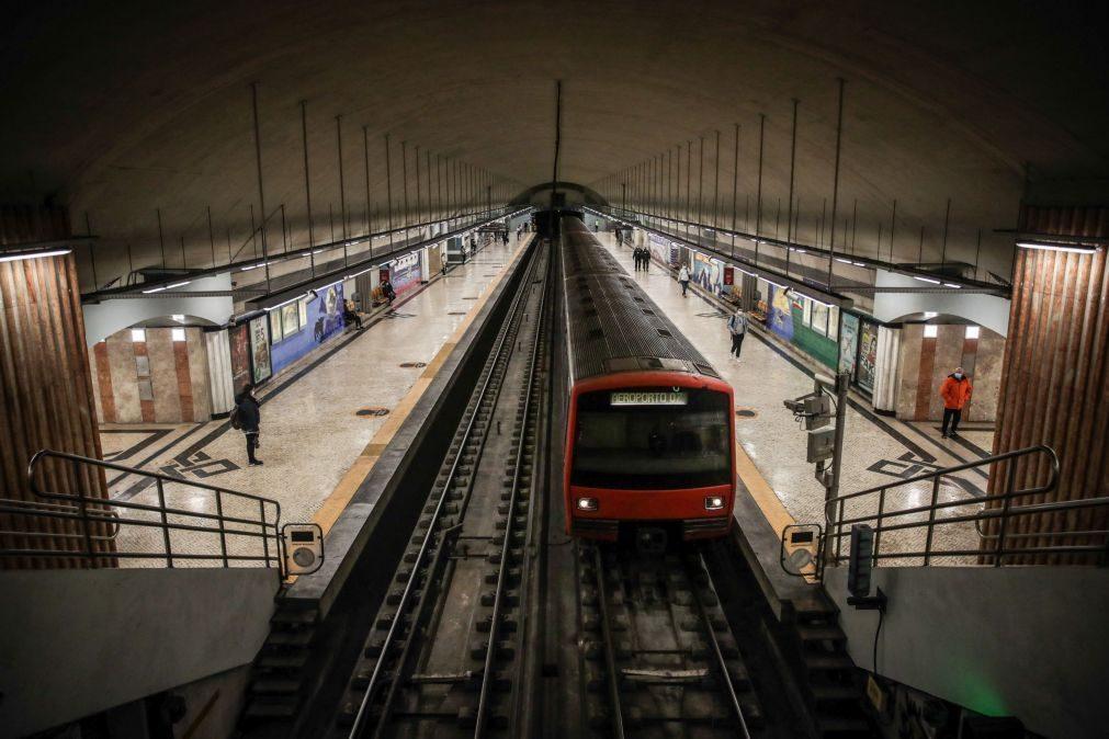 Covid-19: Metro de Lisboa perdeu receitas e 50% dos passageiros em 2020