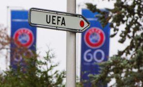 Covid-19: UEFA alarga prazos para realização da fase a eliminar das provas europeias