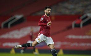 Bruno Fernandes marca no 'massacre' do United ante Southampton reduzido a nove