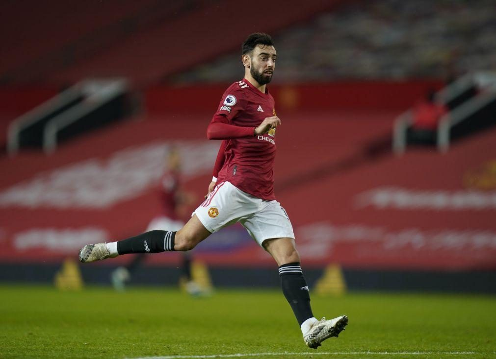 Bruno Fernandes marca no 'massacre' do United ante Southampton reduzido a nove