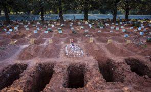 Covid-19: Brasil supera 230 mil mortes e 9,4 milhões de casos de infeção