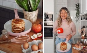 Vanessa Alfaro ensina a fazer panquecas que só levam 3 ingredientes