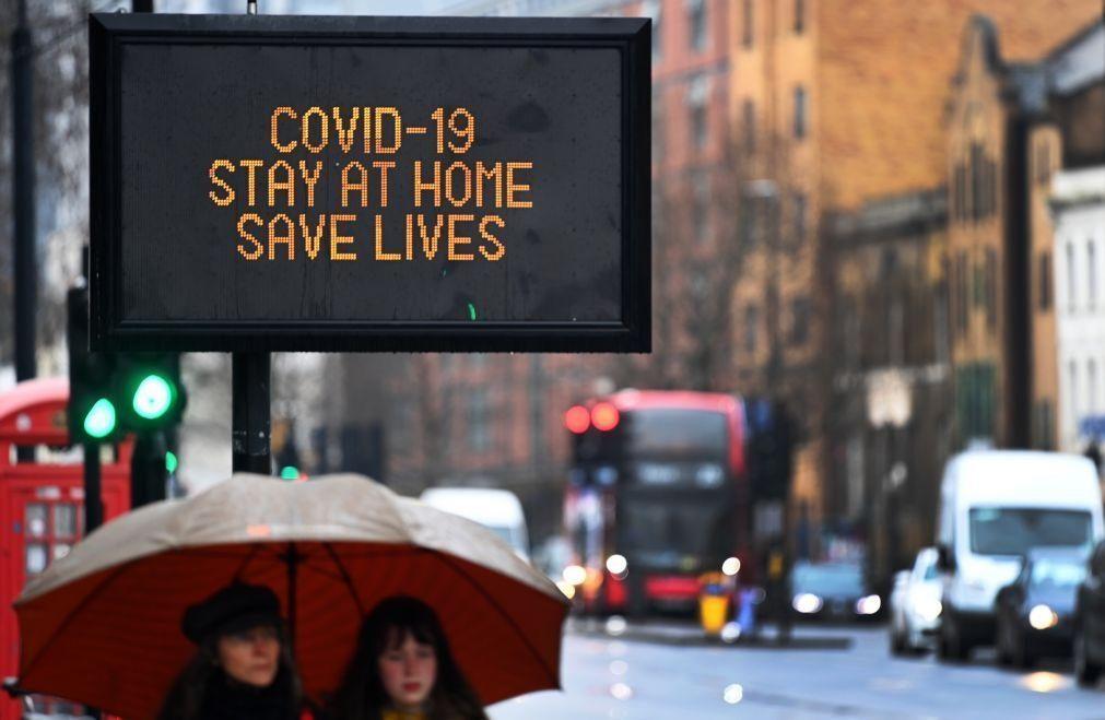 Covid-19: Reino Unido registou 333 mortes, valor mais baixo desde dezembro