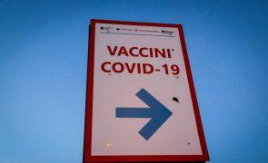 Covid-19: Itália regista 7.970 infeções e imunizados superam mais de um milhão