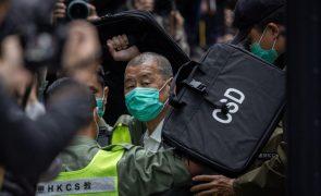 Hong Kong: Tribunal nega libertação sob fiança de empresário do setor dos 'media' Jimmy Lai