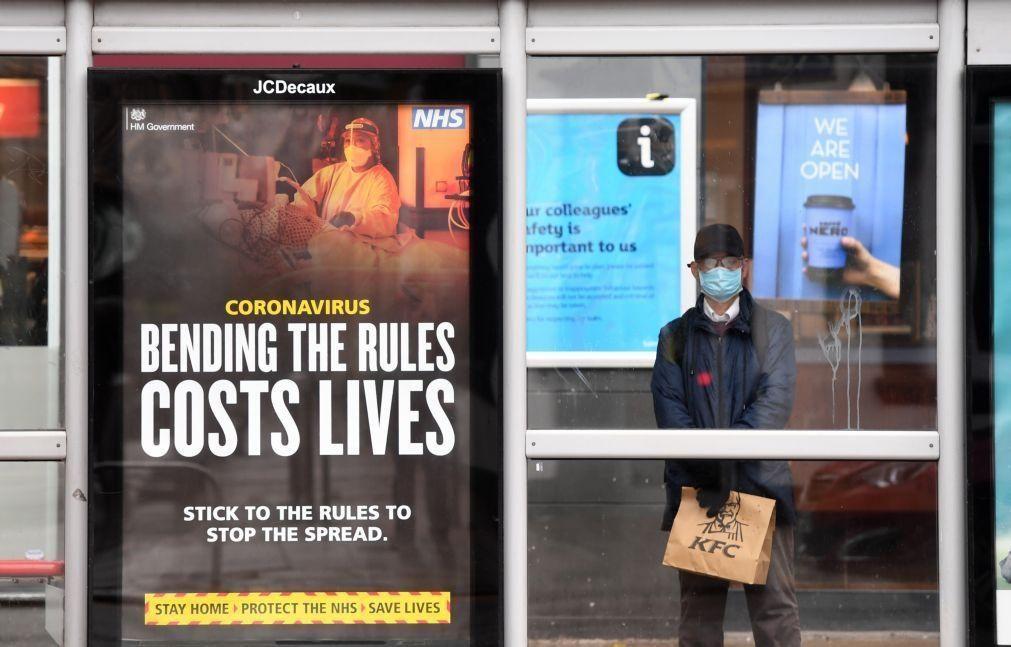Covid-19: Reino Unido com 1.052 mortes num dia, mais do triplo da véspera