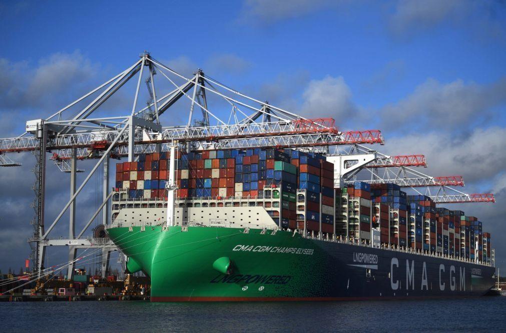 Covid-19: Comércio mundial caiu 9% em 2020