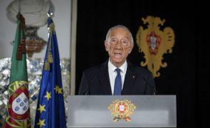 Marcelo envia ao Parlamento decreto para prolongar estado de emergência