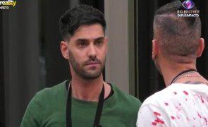 """Big Brother. Bruno Savate e Gonçalo Quinaz em forte discussão: """"És zero!"""""""