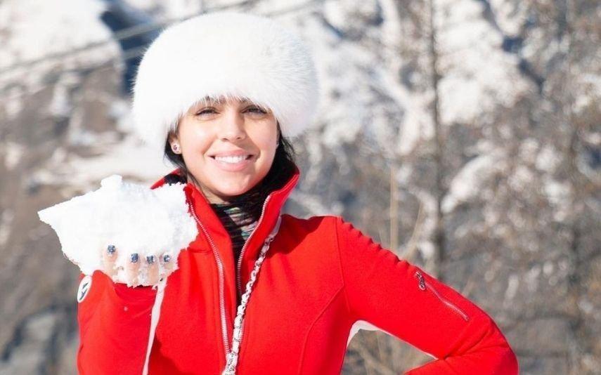 Georgina Rodríguez deslumbra na neve com look de marca de luxo
