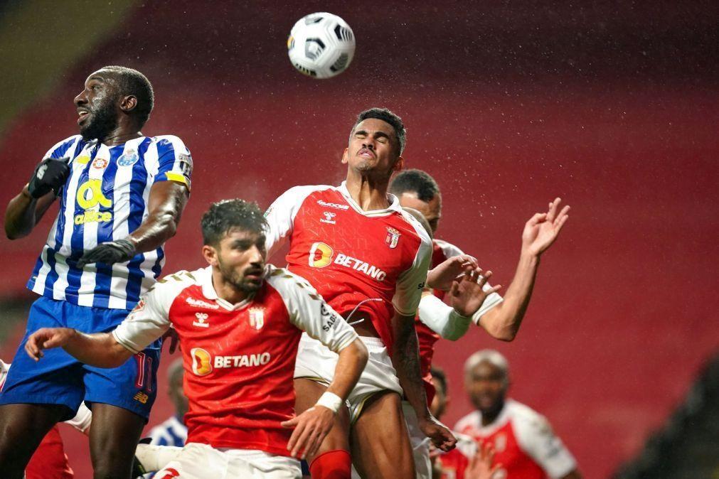Sporting de Braga e FC Porto empatam na primeira mão da Taça de Portugal