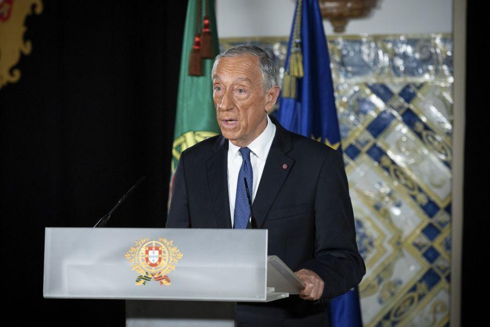 Presidente da República fala ao país hoje às 20h00