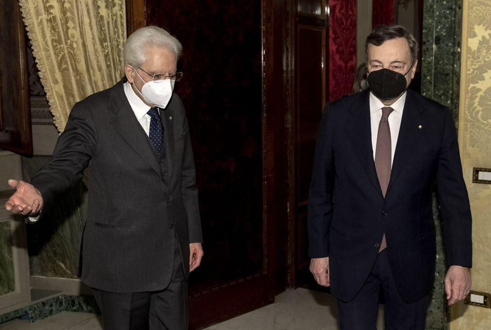 Draghi aceita cargo de primeiro-ministro de Itália após encontro com PR Mattarella