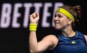 Open da Austrália: Pliskova derrotada por Muchova que avança para os oitavos de final