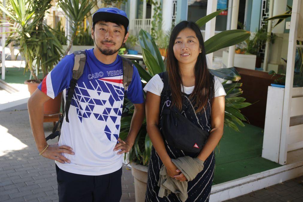 Casal japonês fez da pandemia lua-de-mel de um ano em Cabo Verde