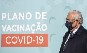 Costa anuncia reforço de cem mil vacinas na próxima semana para idosos ou com doenças associadas
