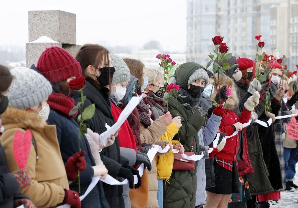Centenas de mulheres juntas em Moscovo em solidariedade com a mulher de Navalny