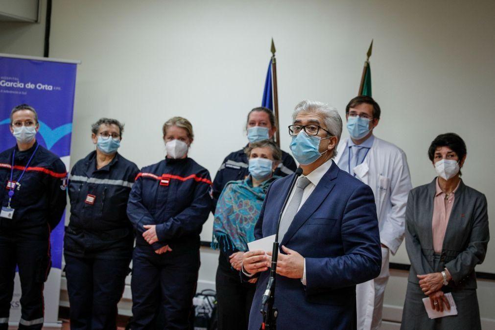 Covid-19: Governo agradece ajuda médica francesa