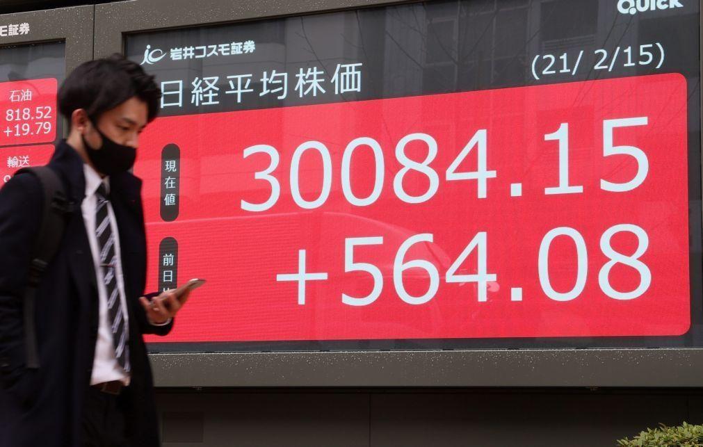 Bolsa de Tóquio fecha a ganhar 1,28% e volta a superar 30 mil pontos