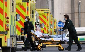 Covid-19: Reino Unido regista 799 mortes e 10.625 novas infeções