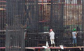 Produção na construção recua em 2020 na zona euro e UE - Eurostat