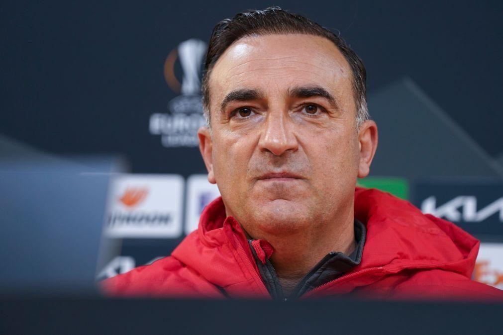 Braga quer chegar em vantagem à segunda mão com a Roma, diz Carvalhal